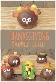 easy to make thanksgiving food thanksgiving brownie truffles eazy peazy mealz