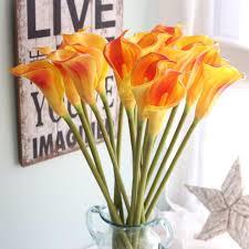 aliexpress com buy newest artificial fake flowers leaf calla