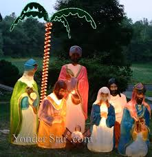 Outdoor Lighted Nativity Set - outdoor plastic light up nativity scene meideas