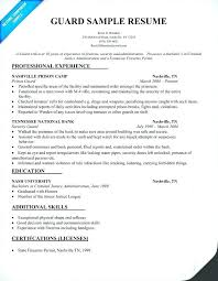 armed security job resume exles security supervisor resume security guard resume sle best