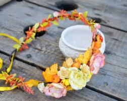 Autumn Flower Autumn Flower Crown Etsy