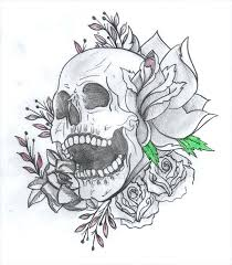 cool designs drawing skull and drawing picture flowers for