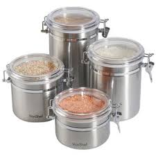 stainless kitchen canisters stainless steel canisters wayfair
