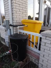 trash can rain barrels simply grateful gardener