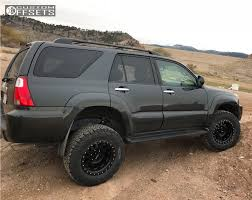 toyota 4runner lifted wheel offset 2008 toyota 4runner slightly aggressive suspension