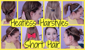 non hairstyles 8 heatless hairstyles for short hair easy quick for back to