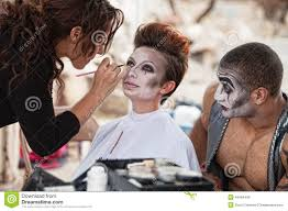 looking for makeup artist makeup artist working backstage stock photo image 44564449
