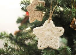 White Christmas Star Decorations by Crochet Star Ornaments At Darice Persia Lou