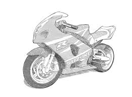 motorbike drawing techniques on behance