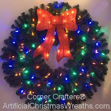 3 foot color changing l e d prelit wreath