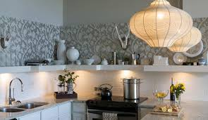 Wallpaper Backsplash Design Ideas - Wallpaper backsplash