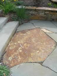 Outdoor Slate Patio Interior Stone Bench Concrete Steps Mixed Flagstone Patio Stone