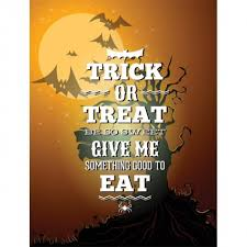 Free Vector Trick Or Treat Halloween Day Poster Template Free