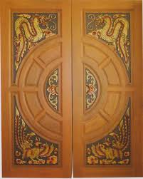 Wood Door Design by Modern Custom Carving Solid Teak Wood Interior Exterior Entry