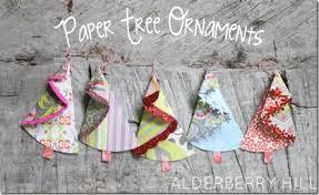 make paper tree ornaments dollar store