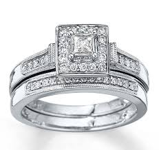 wedding sets on sale antique halo diamond bridal ring set 1 carat princess cut
