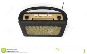 Radio Black Background Old Black Transistor Radio Top View Stock Illustration Image