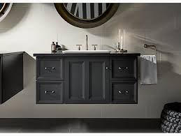 Bathroom Wall Hung Vanities K 99563 Damask 42 Inch Wall Hung Vanity With 1 Door 4 Drawers
