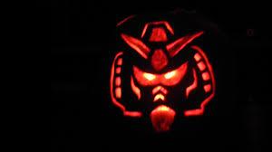 happy halloween lights happy halloween our gundam pumpkin gunpla 101