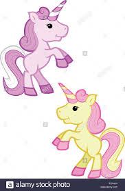 imagenes de unicornios en caricatura una caricatura de la ilustración de un estilo kawaii dos unicornios