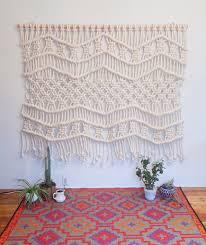 macrame wall hanging hanger boho hippie home decor design buy