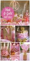 Pink And Gold Centerpieces by Pink And Gold Birthday