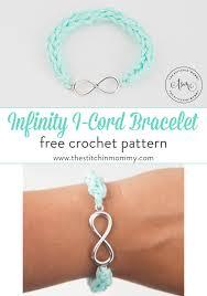 bracelet crochet patterns images Infinity i cord bracelet free crochet pattern the stitchin mommy png