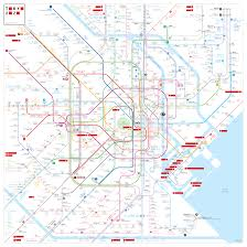 Tokyo Metro Map by Japan Train Rail Maps