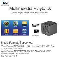 ultramini dlp projector portable 1080p hd beamer throw 70 inch