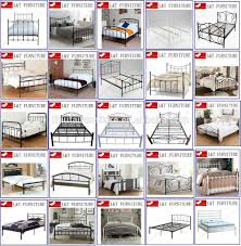 the latest wrought iron double bed design knocked down high