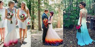 these ombre wedding dresses prove you don u0027t have to wear all white