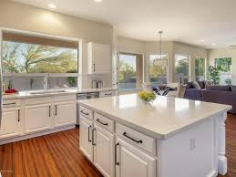 traditional kitchen with one wall u0026 hardwood floors in scottsdale