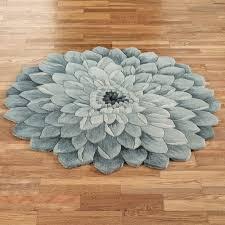 flower area rugs abby bloom blue flower shaped rugs
