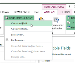 Creating A Pivot Table In Excel Create A Calculated Field In A Pivot Table Excel Pivot