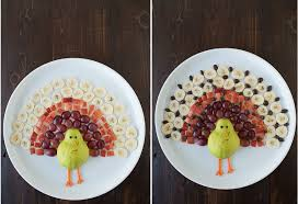 turkey fruit platter the year