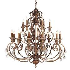 Tuscan Style Chandelier Image Detail For Iron And Crackled Bronze Chandelier