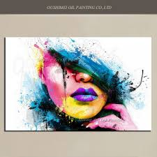 Paint Colorful - wall art for large fashion painting canvas women face picture