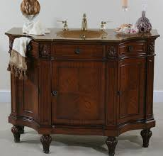 Antique Style Bathroom Vanity by Lovely Antique Style Bathroom Vanity Cabinet From Dark Ash Wood