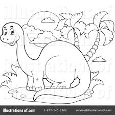 brontosaurus clipart 1098044 illustration by visekart