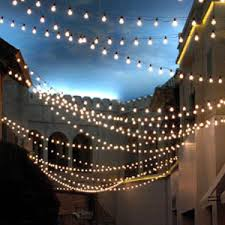 Party Lighting C9 Commercial String Lights Custom Length White Commercial C9