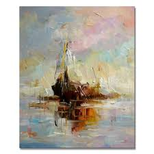 modern abstract boat oil painting for home decor buy abstract