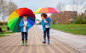 photo boys wearing boots children two jacket parasol 3840x2400