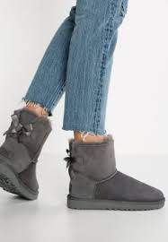 s grey ankle ugg boots sheepskin boots fleece lined boots zalando co uk