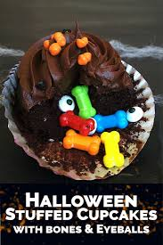 Halloween Chocolate Cake Recipe Spooky Stuffed Halloween Cupcakes A Side Of Sweet