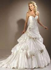 taffeta strapless sleeve maggie sottero wedding dresses ebay