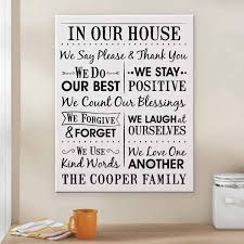 personalized our house rules canvas 11