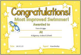 most improved certificate best design sertificate 2017