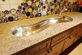 made stainless steel sink granite countertop