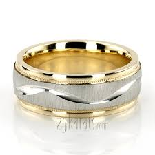 wedding bands design wave design milgrain wedding band tt233 14k gold
