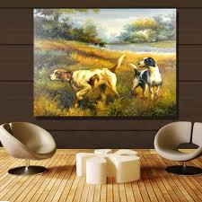 popular pictures of farms buy cheap pictures of farms lots from qk art frameless wall art dogs hunting farm oil painting on canvas picture wall paintings for living room home decor
